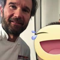Con lo chef stellato e giudice del reality Masterchef Carlo Cracco