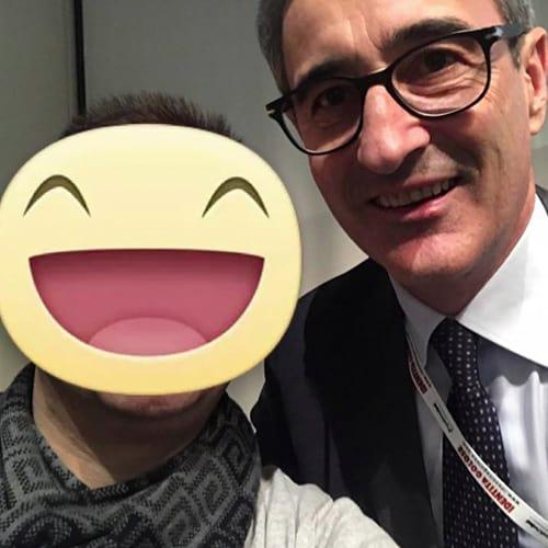 Con il patron Riccardo Felicetti del Pastificio Felicetti