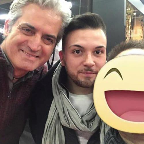Con i due chef Kevin Luigi Fornoni e Antonio Bello