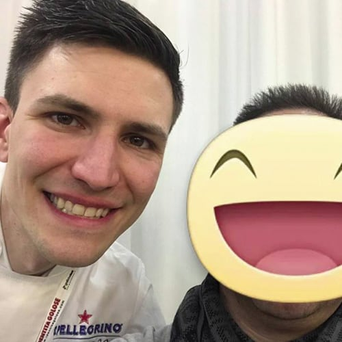 Con il giovane Sous chef Paolo Griffa del ristorante Piccolo Lago di Mergozzo