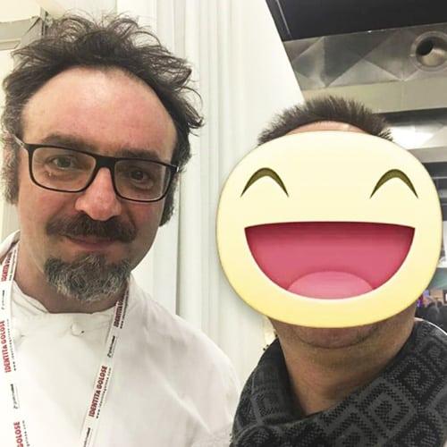Con lo chef Paolo Lopriore, allievo prediletto del Maestro Gualtiero Marchesi