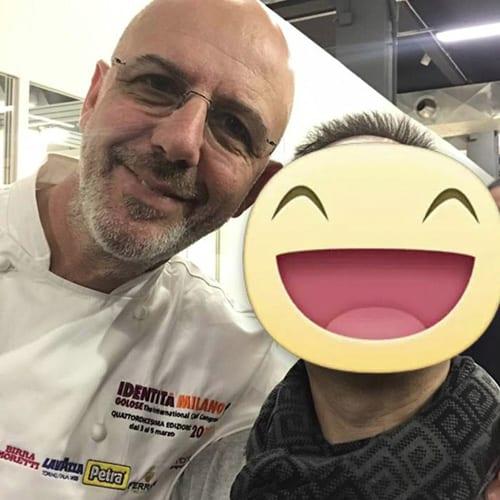 """Con il famoso pizzaiolo Franco Pepe del locale """"Pepe in Grani"""""""