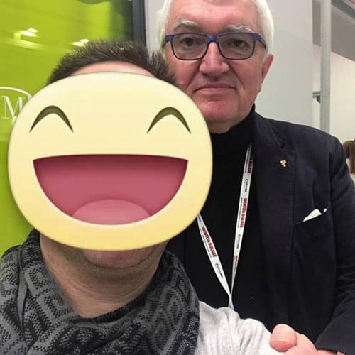 Con Antonio Santini del Ristorante Al Pescatore - 3 Stelle Michelin