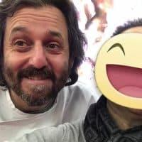 Con lo chef del ristorante L'imbuto 1 stella michelin Cristiano Tomei
