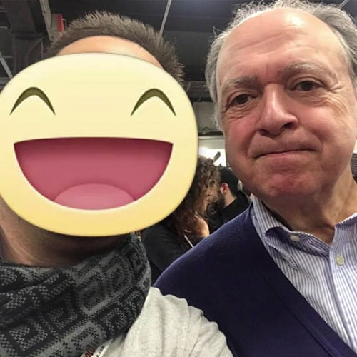 Con Il giornalista e direttore della Guida dell'Espresso Enzo Vizzarri