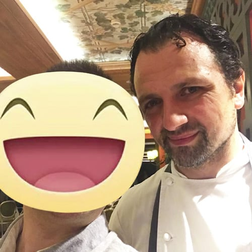 Lo chef Masismiliano Mandozzi