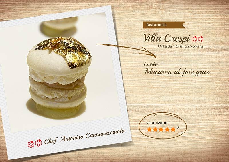 Villa Crespi 2020 - macaron foiegrass-sito