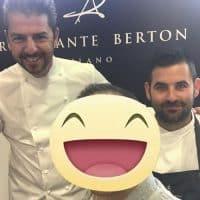 Lo chef stellato Andrea Berton e il sous chef Simone Sangiorgi