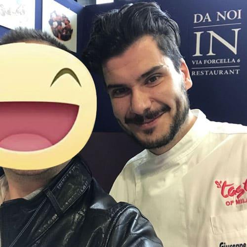 Lo chef Giuseppe Postorino del Ristorante DA NOI IN c/o Hotel Magna Pars Suite ***** a Milano