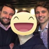 Con Moreno e Davide I due titolari del ristorante italiano San Carlo Osteria Piemonte a New York nel quartiere di Soho