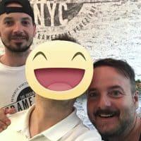 Con Massimiliano e Filippo I due titolari della Startup Tramezzini NYC. Una realtà italiana che sta spopolando a New York.