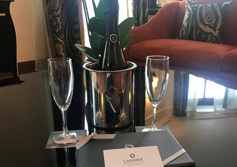 Castadiva - Il Benvenuto dell' Hotel con Champagne