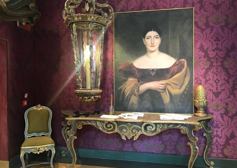 Castadiva - la Reception (quadro di Giuditta Pasta)