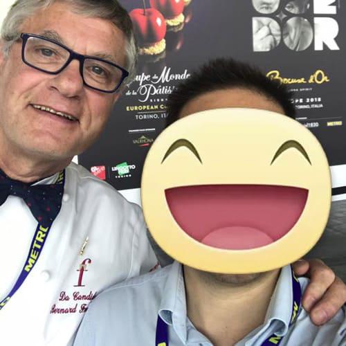 """Lo chef e membro di Eurotoque Fournier Bernard del Ristorante """"Da Candida"""" a Campione."""