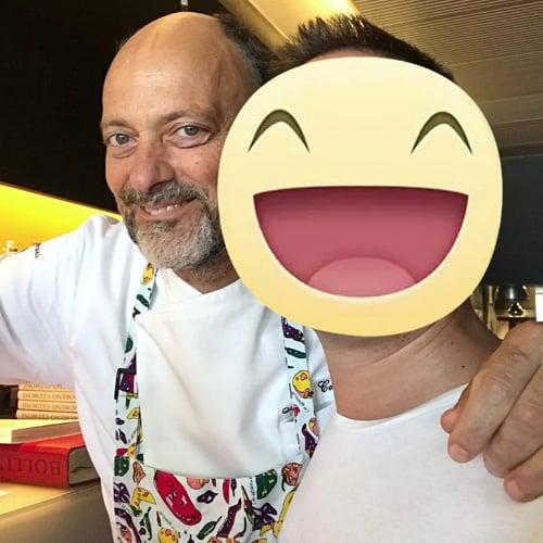 Con lo chef e guidice del reality Topchef 2016 Moreno Cedroni del ristorante La Madonnina del Pescatore - 2 stella Michelin