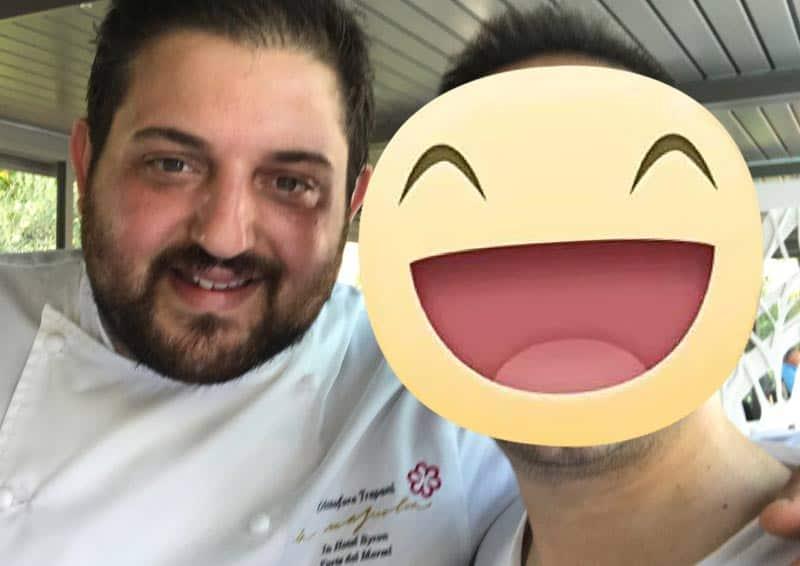 Lo chef Cristoforo Trapani del ristorante Magnolia 1 STELLA MICHELIN dell'Hotel Byron 5**** L