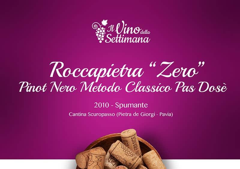 "Roccapietra ""Zero"", blanc de noir pas dosè"