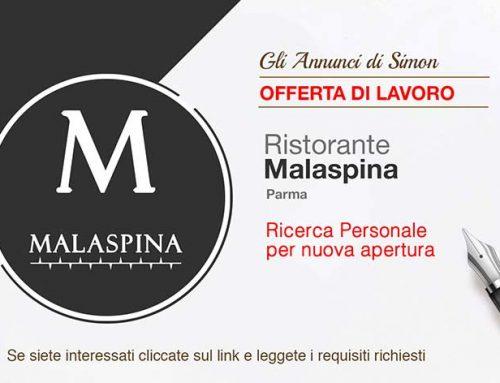 """Cercasi Camerieri per nuova apertura """"Ristorante Malaspina"""" – Parma"""