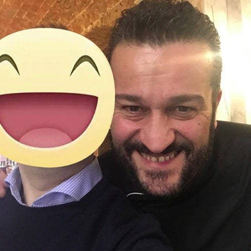 Con lo Chef Vincenzo Vottero Presidente dei ristoratori di Bologna