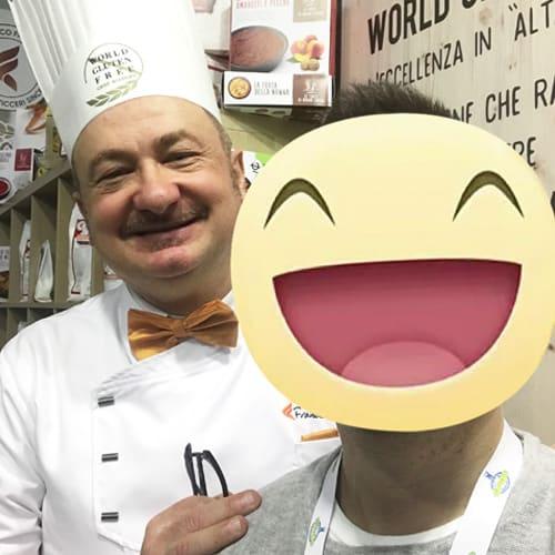 Con Il maestro pasticciere Francesco Favorito, specializzato in Gluten free