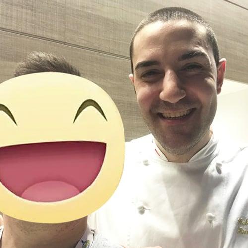 Con il Pasticciere Fabrizio Fiorani, del Luca Fantin al Bulgari Ginza Tower - Tokyo