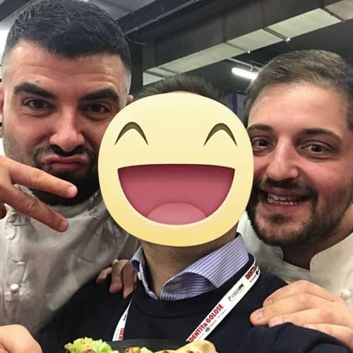Il PizzaChef Gennaro Battiloro e lo chef stellato Cristoforo Trapani