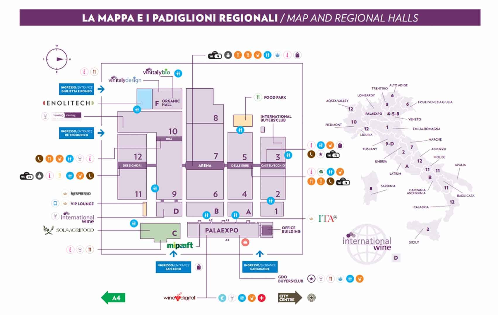 Mappa Vinitaly 2018
