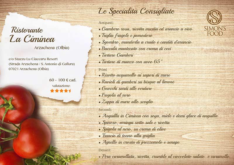 Stazzu Lu Ciaccaru Resort - menu