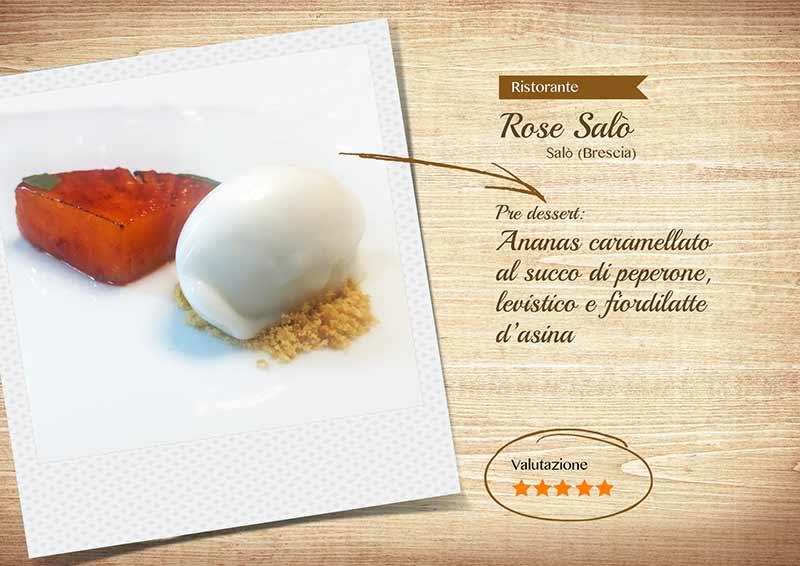 Ristorante Rose Salò - ananas caramellato