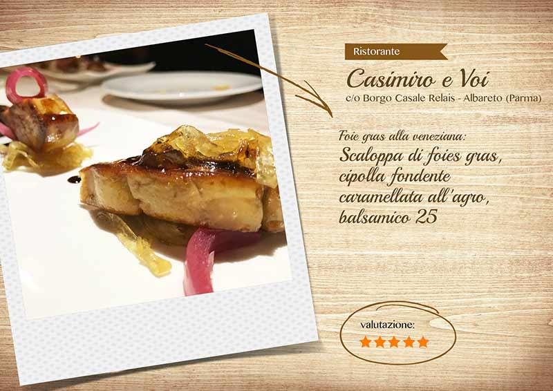 Ristorante Casimiro e voi, scaloppa di foie gras