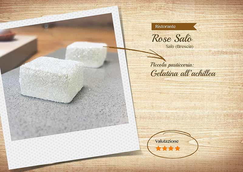 Ristorante Rose Salò - gelatina all'achillea