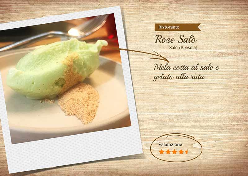 Ristorante Rose Salò - gelato alla ruta