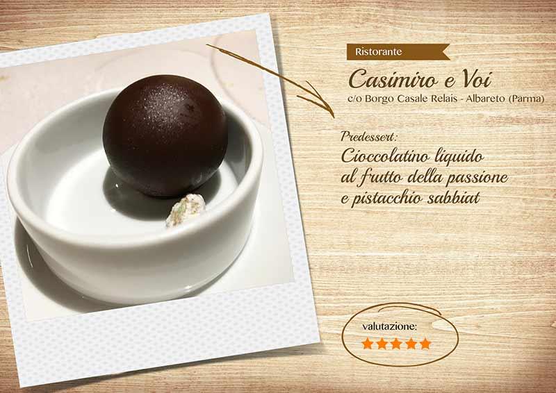 Ristorante Casimiro e voi, pre dessert