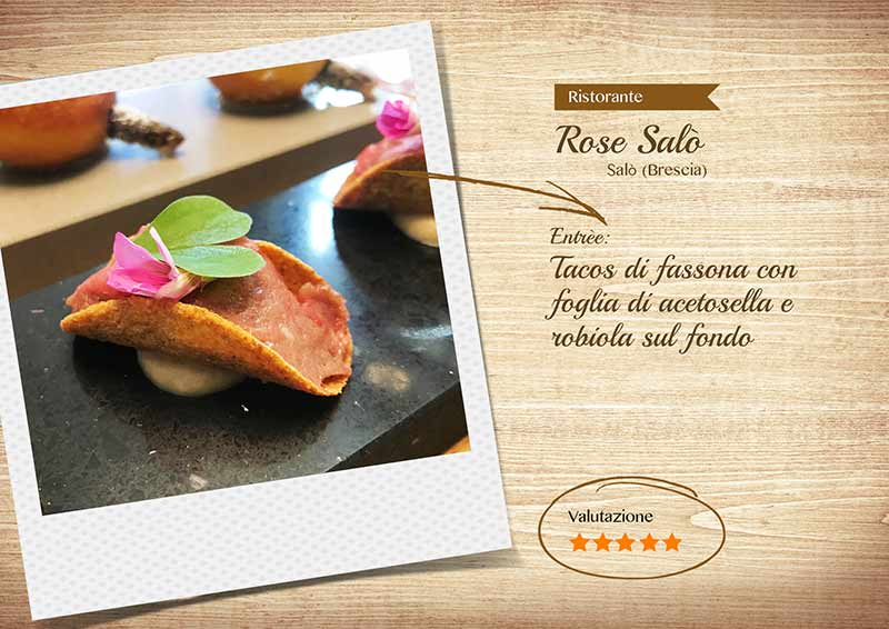 Ristorante Rose Salò - Tacos di fassona
