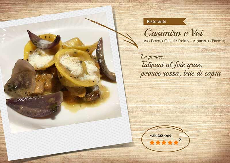 Ristorante Casimiro e voi, tulipani al foie gras