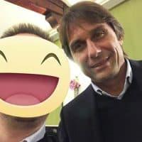 Con L'allenatore dell'inter Antonio Conte, ex giocatore Nazionale e Capitano della Juventus anni 90