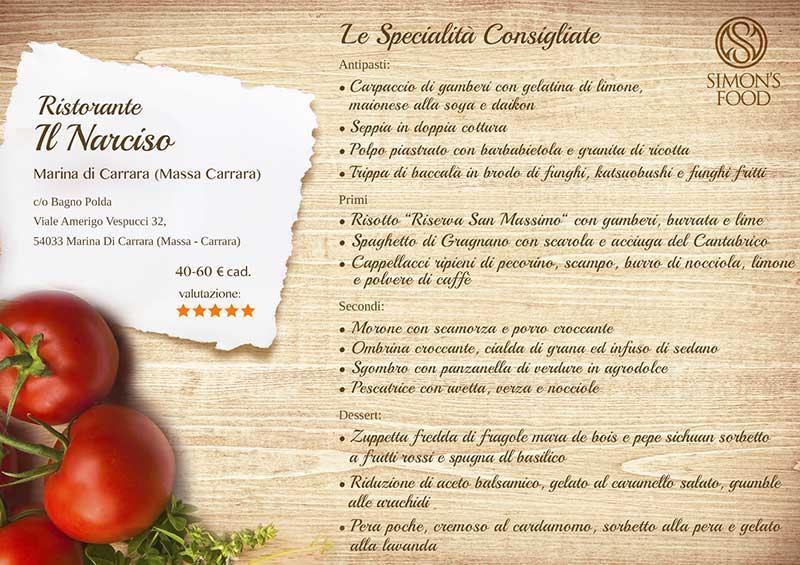 Ristorante Il Narciso -menu-sito
