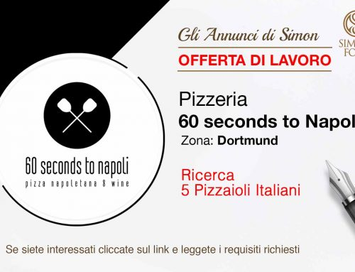 Cercasi 5 Pizzaioli Italiani per Dortmund (Germania)