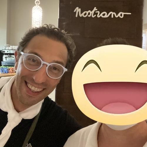 Con lo chef stellato Stefano Ciotti del ristorante Nostrano di Pesaro