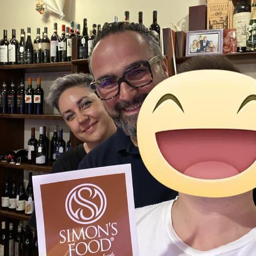 Con gli amici dell'Osteria / Macelleria Poesia a Tavola, Mirko e Margherita