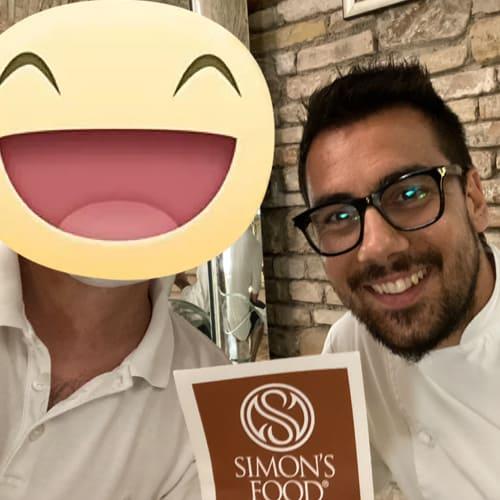 Con lo chef Daniele Patti del ristorante Lo Scudiero di Pesaro