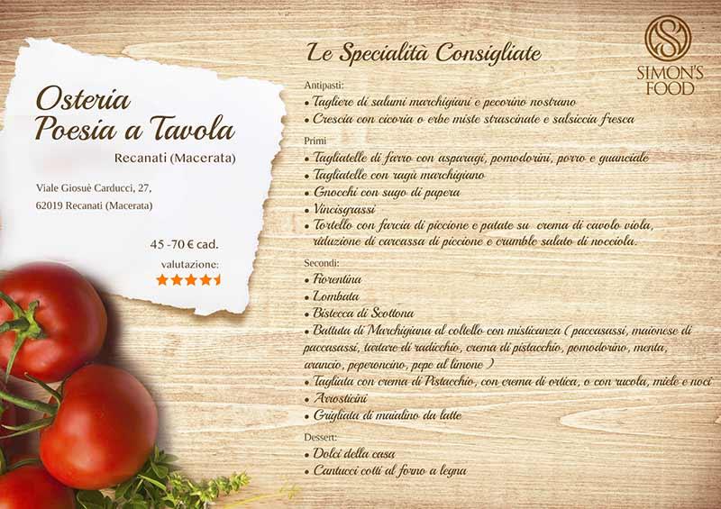 Poesia a Tavola - menu-sito