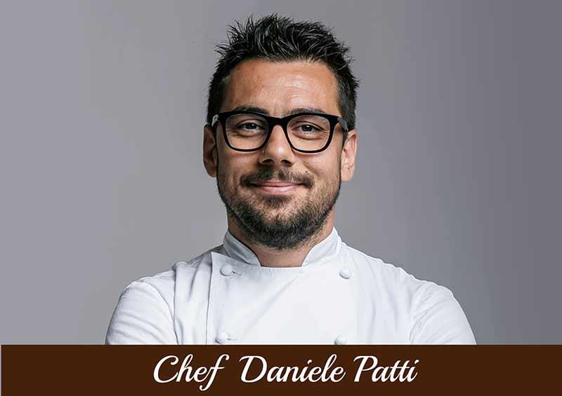 Foto dello Chef Daniele Patti del Ristorante Lo Scudiero
