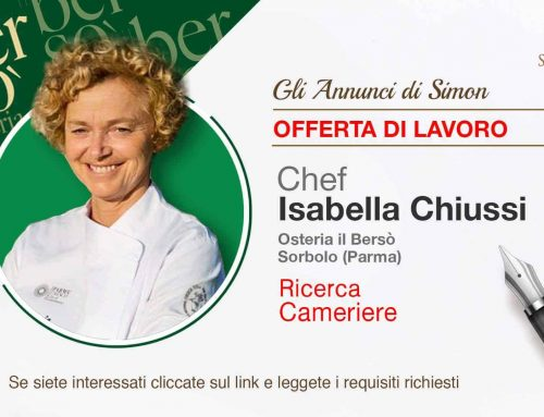 Cercasi Cameriere per Osteria il Bersò (Sorbolo – Parma)