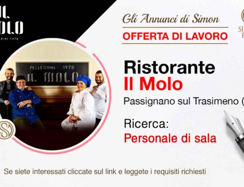 Cercasi Personale di Sala per Ristorante Il Molo (Passignano sul Trasimeno – Perugia)