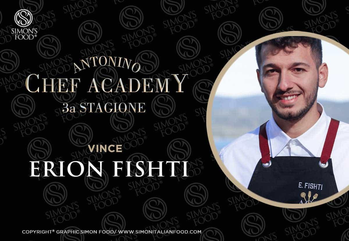 Erion Fishti vincitore terza edizione Antonino Chef Academy 2021